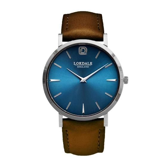 Nuthatch watch - vintage brown strap product photo