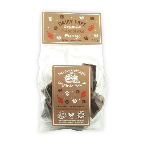 Organic dairy free chocolate vegan fudge product photo Default L