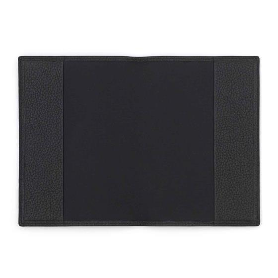 Leather passport cover, black product photo Side View -  - additional image 3 L