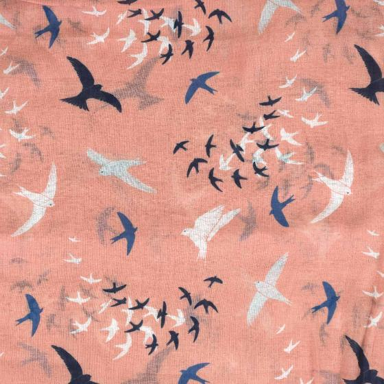 Pink murmuration RSPB organic cotton scarf product photo Side View -  - additional image 3 L