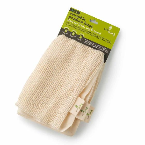 Organic produce & bread bags - 3 pack product photo