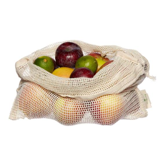 Organic produce & bread bags - 3 pack product photo additional image 6 L