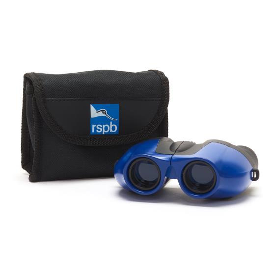 Puffin Jr children's binoculars, blue product photo Front View - additional image 1 L
