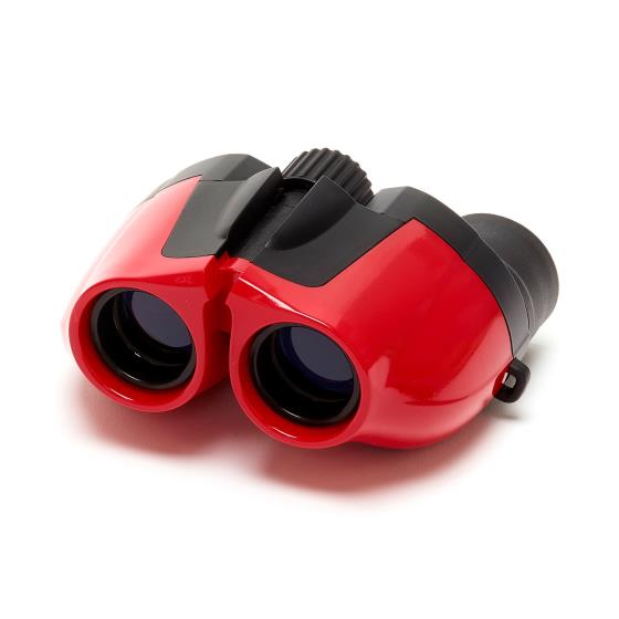 Puffin Jr children's binoculars, red product photo Back View -  - additional image 2 L