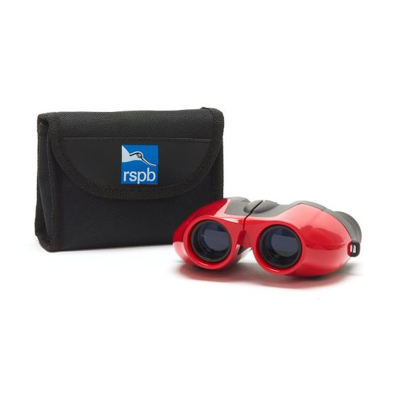 Puffin Jr children's binoculars, red product photo Front View - additional image 1 L