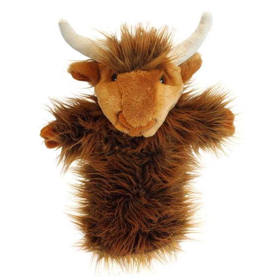 Highland cow hand puppet product photo Default L