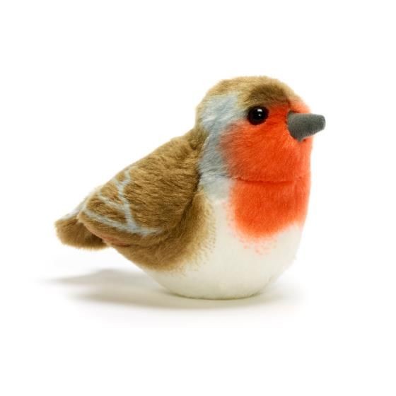 RSPB soft toy singing robin product photo Default L