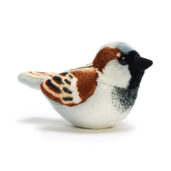RSPB singing house sparrow soft toy product photo Default L