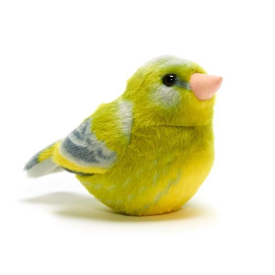 RSPB singing greenfinch soft toy product photo Default L