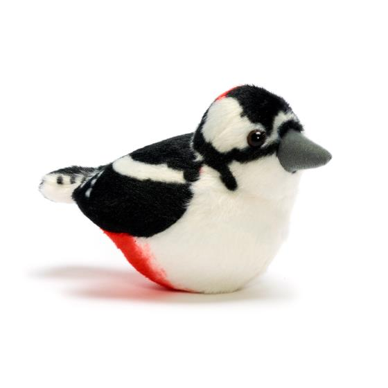 RSPB singing great spotted woodpecker soft toy product photo Default L