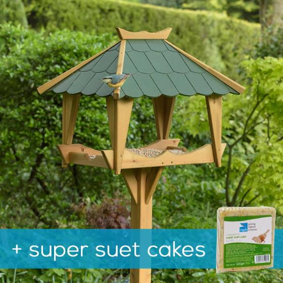 RSPB Pagoda bird table & super suet cakes product photo Default L