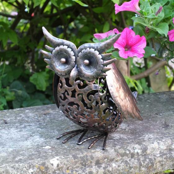 Owl solar light product photo Front View - additional image 1 L
