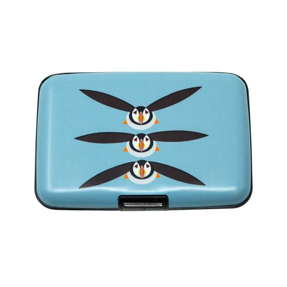 RFID credit card protection wallet, puffin product photo