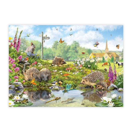 Riverside wildlife 1000 piece jigsaw product photo Front View - additional image 1 L
