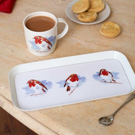 Robin tea tray product photo Side View -  - additional image 3 L
