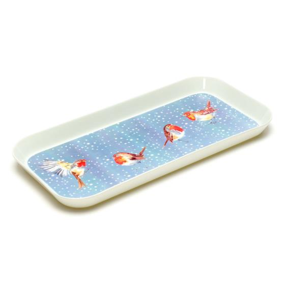 Robins in the snow snack tray product photo Default L