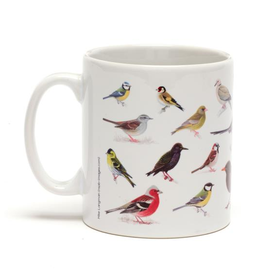 RSPB Garden birds mug product photo Back View -  - additional image 2 L