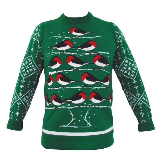RSPB Christmas jumper M product photo Side View -  - additional image 3 L