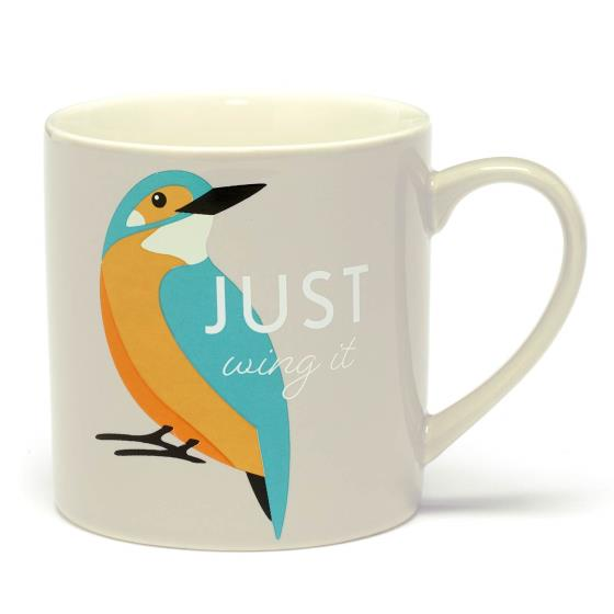 RSPB Free as a bird kingfisher mug product photo