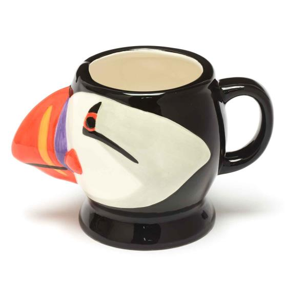 RSPB Free as a bird puffin head mug product photo Front View - additional image 1 L