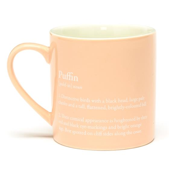 RSPB Free as a bird puffin mug product photo Front View - additional image 1 L