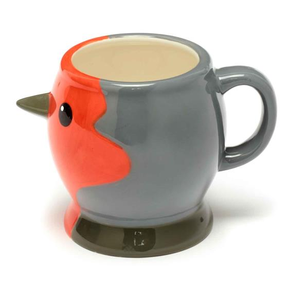 RSPB Free as a bird robin head mug product photo Front View - additional image 1 L