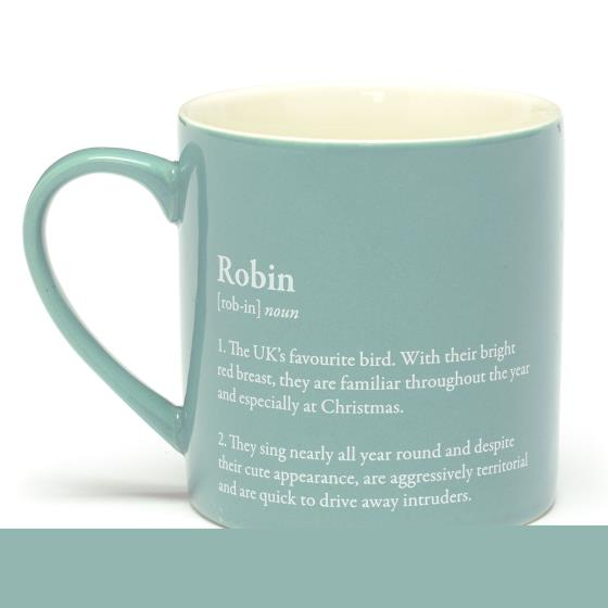 RSPB Free as a bird robin mug product photo Front View - additional image 1 L