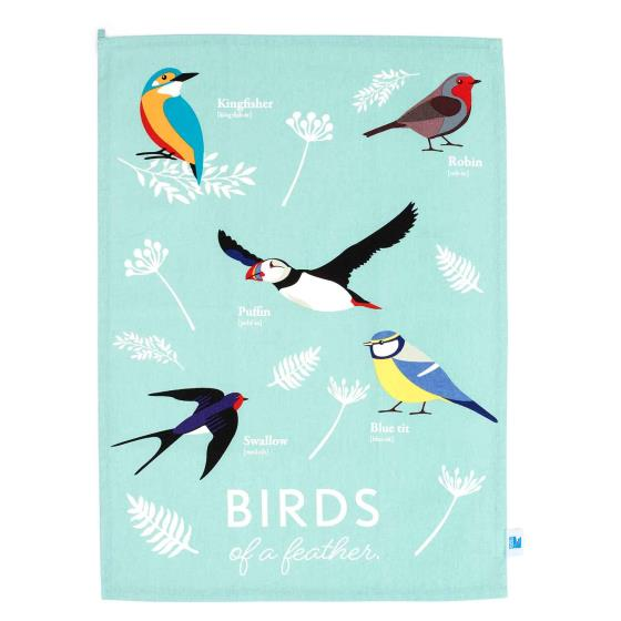 RSPB Free as a bird tea towel product photo Default L
