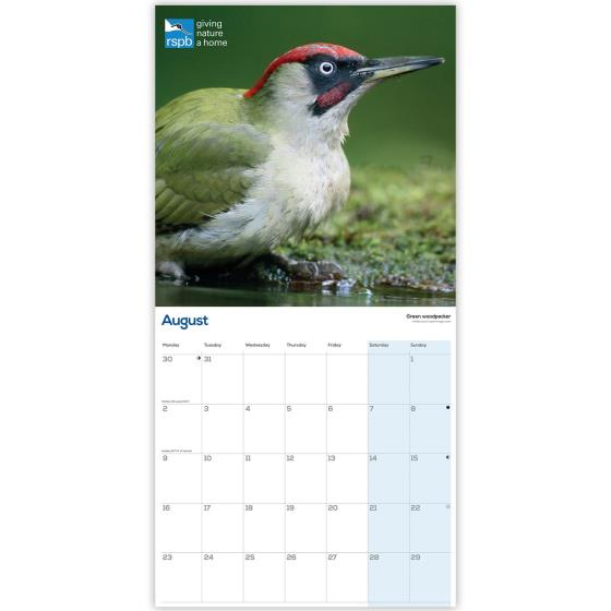 RSPB Garden birds calendar 2021 product photo Side View -  - additional image 3 L