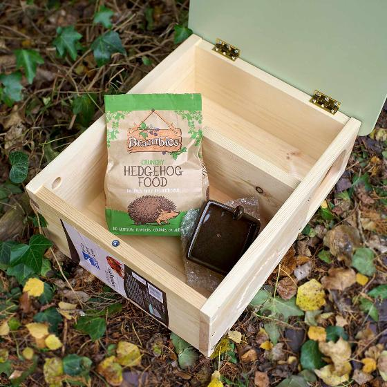 RSPB Hedgehog home + food + bowl product photo Side View -  - additional image 3 L