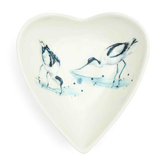 RSPB In the shallows avocets heart bowl product photo Front View - additional image 1 L