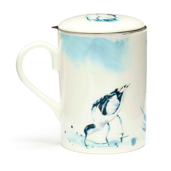 RSPB In the shallows avocets tea infuser mug product photo Front View - additional image 1 L