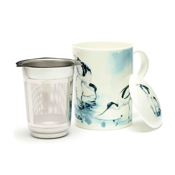 RSPB In the shallows avocets tea infuser mug product photo Back View -  - additional image 2 L