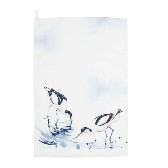 RSPB In the shallows avocets tea towel product photo