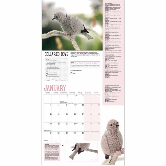 RSPB Knitted birds calendar 2020 product photo Side View -  - additional image 3 L
