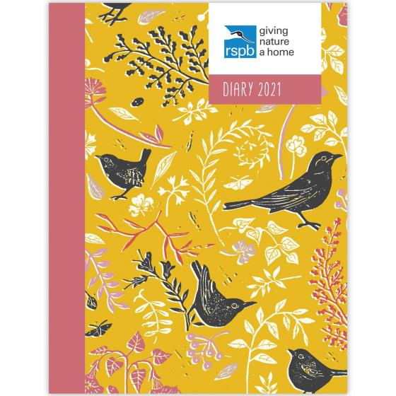 RSPB Nature's print A6 pocket diary 2021 product photo