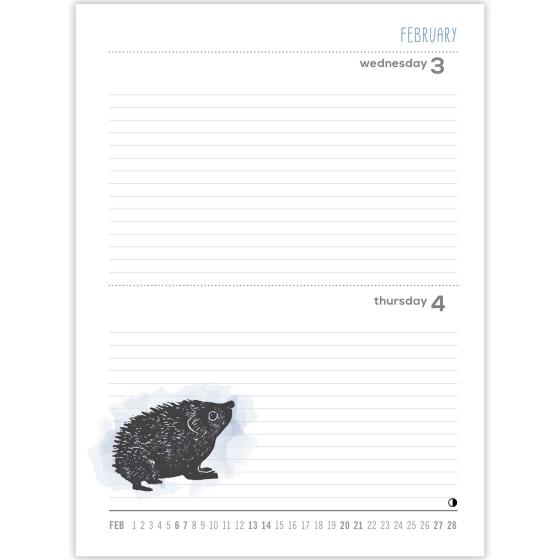 RSPB Nature's print A6 pocket diary 2021 product photo Back View -  - additional image 2 L