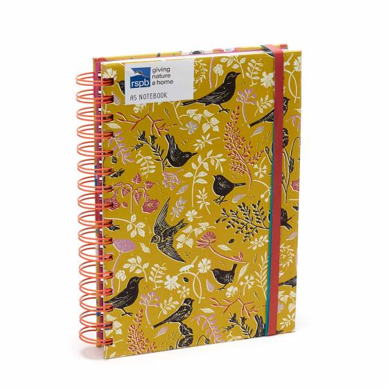 RSPB Nature's print birds A5 notebook product photo Default L