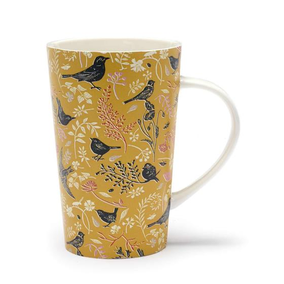 RSPB Nature's print birds latte mug product photo Default L