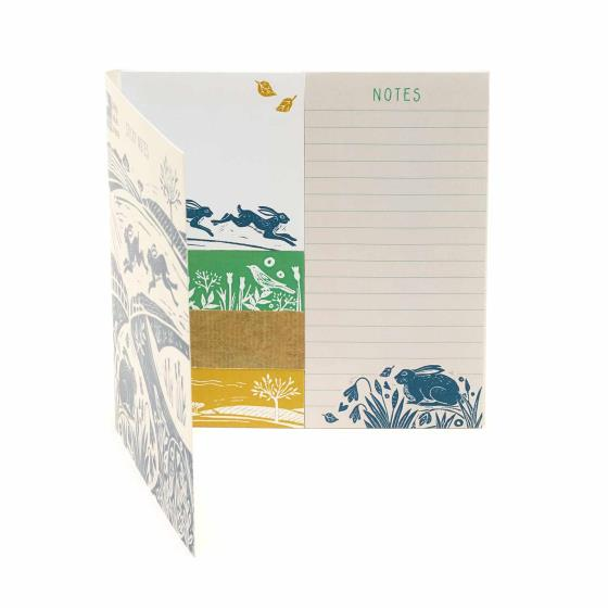 RSPB Nature's print hare sticky note set product photo Side View -  - additional image 3 L