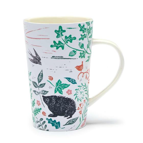 RSPB Nature's print hedgehog latte mug product photo