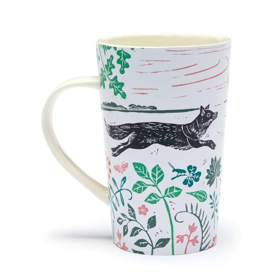 RSPB Nature's print hedgehog latte mug product photo Side View -  - additional image 3 L