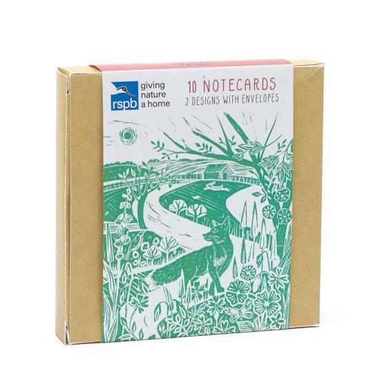 RSPB Nature's print landscape notecards pack product photo Side View -  - additional image 3 L
