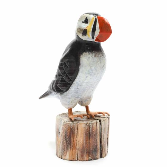Wooden puffin ornament product photo Default L