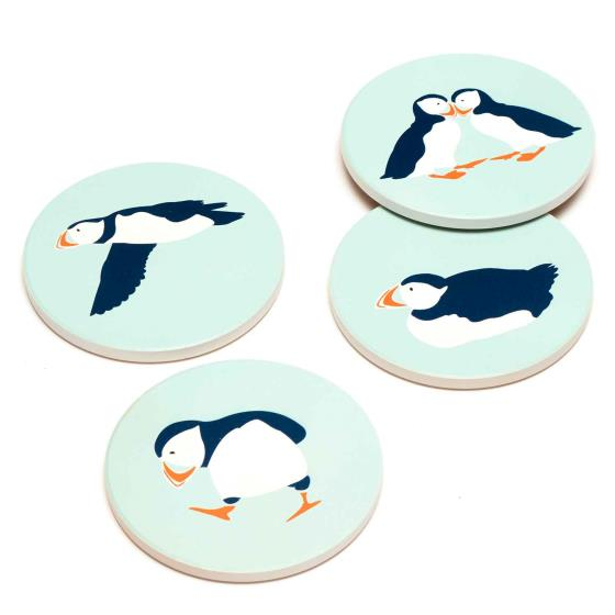 RSPB Puffins coasters product photo