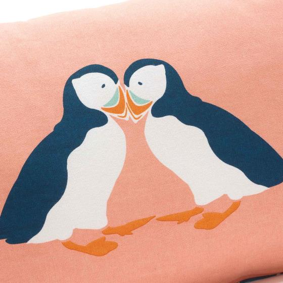 RSPB Puffins cushion product photo Back View -  - additional image 2 L