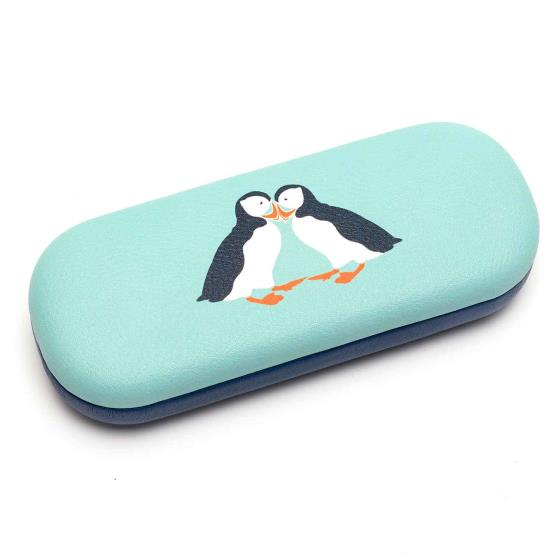 RSPB Puffins glasses case product photo Back View -  - additional image 2 L