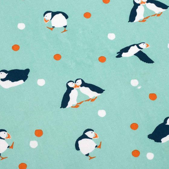 RSPB Puffins tea towel product photo Back View -  - additional image 2 L