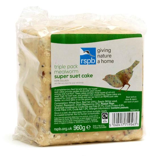 RSPB Super suet cakes, mealworm x 3 product photo Default L