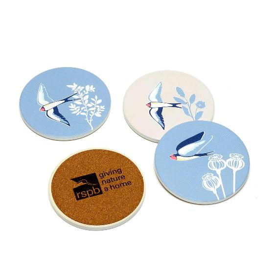 RSPB Swallows coasters product photo Back View -  - additional image 2 L